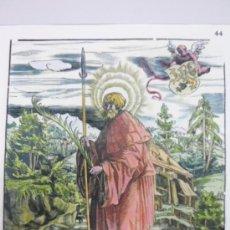 Arte: XILOGRAFÍA DE UN FRAILE 1799, GERMANUS GRANFELDEN. Lote 36788018