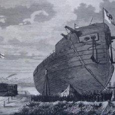 Arte: KIEL BAUTIZO FRAGATA FEDERICO EL GRANDE MARINA 1874 . Lote 37033282