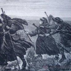 Art: PEREGRINOS DEL CAMINO DE SANTIAGO EN EL SIGLO XIV.1874. Lote 37045963