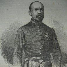 Arte: GENERAL USTARIZ 1859. 13X11. Lote 38972283