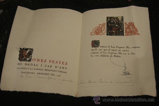 Arte: Xilografia de Antoni Gelabert, numerada 48/50, de año 1946 - Foto 3 - 39259550