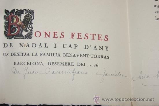 Arte: Xilografia de Antoni Gelabert, numerada 48/50, de año 1946 - Foto 4 - 39259550