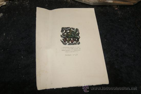 Arte: Xilografia de Antoni Gelabert, numerada 48/50, de año 1946 - Foto 6 - 39259550