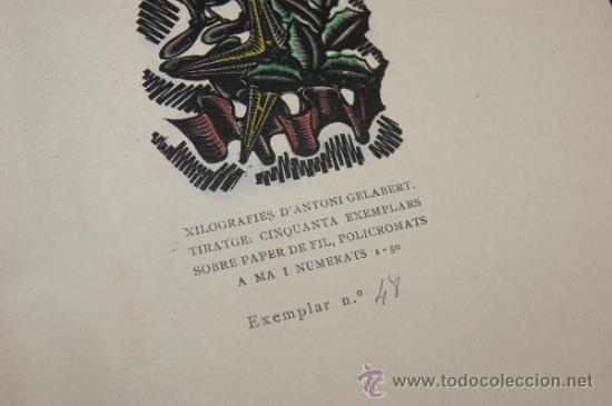 Arte: Xilografia de Antoni Gelabert, numerada 48/50, de año 1946 - Foto 7 - 39259550