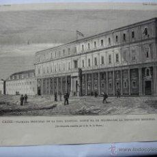 Arte: CADIZ HOSPICIO.1879. Lote 278356113