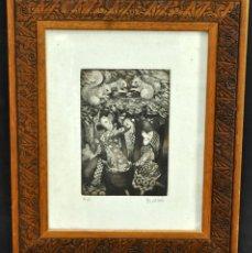 Arte: JOSÉ MARÍA BELLIDO (BARCELONA, 1958) AGUAFUERTE ORIGINAL. TIRAJE P/A. Lote 41943651
