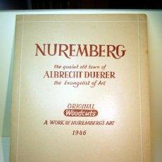 Arte: ANTIGUA CARPETA CON 5 XILOGRAFIAS ORIGINALES DEL PINTORESCO CASCO ANTIGUO DE NUREMBERG, 1946. Lote 42427400