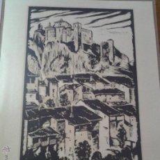 Arte: LAMINA CASTILLO DE ALQUEZAR HUESCA XILOGRAFIA DE LOYGORRI MEDIX. Lote 42866963
