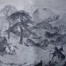 Arte: CAZA DEL OSO EN CALIFORNIA.1870. Lote 43744743