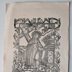 Arte: XILOGRAFÍA ANTIGUA B. STEPHANA DE QUINZANI, ORD. PRE. Lote 43812992