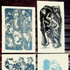 Arte: CLIMENT FORNER. 4 NADALES AUTÒGRAFES1970-1973 XILOGRAFIA GELABERT; FOTOS; FELICITACIÓN BIBLIOFILIA. Lote 44834220