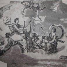 Arte: MADRID PALACIO MARQUES DE PORTUGALETE TECHO DE EDUARDO ROSALES .AÑO 1871. Lote 45345778