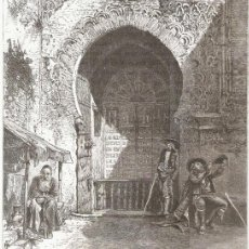 Arte: PUERTA DE LA MEZQUITA EN LA ALHAMBRA. Lote 47550479