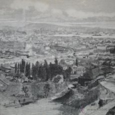 Arte: CHILE VISTA DE VALPARAISO AÑO 1879. Lote 47669046