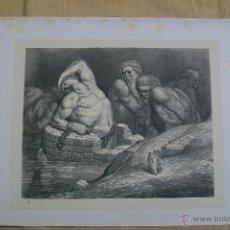 Arte: Nº 65 LA DIVINA COMEDIA POR GUSTAVO DORÉ 1870 MONTANER Y SIMÓN 36 X 26.5 CM. Lote 47685849