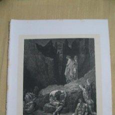 Arte: Nº 59 LA DIVINA COMEDIA POR GUSTAVO DORÉ 1870 MONTANER Y SIMÓN 36 X 26.5 CM. Lote 47705034