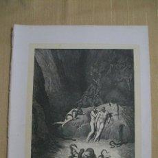 Arte: Nº 54 LA DIVINA COMEDIA POR GUSTAVO DORÉ 1870 MONTANER Y SIMÓN 36 X 26.5 CM. Lote 47719821