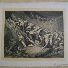 Arte: Nº 53 LA DIVINA COMEDIA POR GUSTAVO DORÉ 1870 MONTANER Y SIMÓN 36 X 26.5 CM. Lote 47720541