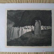 Arte: Nº 51 LA DIVINA COMEDIA POR GUSTAVO DORÉ 1870 MONTANER Y SIMÓN 36 X 26.5 CM. Lote 47748674