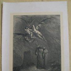 Arte: Nº 27 LA DIVINA COMEDIA POR GUSTAVO DORÉ 1870 MONTANER Y SIMÓN 36 X 26.5 CM 1ª EDICIÓN ESPAÑOLA. Lote 47824727