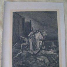 Arte: Nº 25 LA DIVINA COMEDIA POR GUSTAVO DORÉ 1870 MONTANER Y SIMÓN 36 X 26.5 CM 1ª EDICIÓN ESPAÑOLA. Lote 47830257