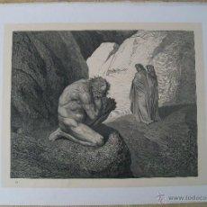 Arte: Nº 21 LA DIVINA COMEDIA POR GUSTAVO DORÉ 1870 MONTANER Y SIMÓN 36 X 26.5 CM 1ª EDICIÓN ESPAÑOLA. Lote 47833402