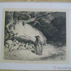 Arte: Nº 11 LA DIVINA COMEDIA POR GUSTAVO DORÉ 1870 MONTANER Y SIMÓN 36 X 26.5 CM 1ª EDICIÓN ESPAÑOLA. Lote 47871078