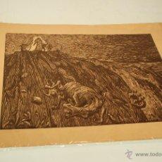 Arte: XILOGRAFÍA - REPRESENTA LA LEYENDA DE LA DONCELLA DE BUERA - MEDIDA: 50X39 - FIRMADA Y NUMERADA -. Lote 48308379