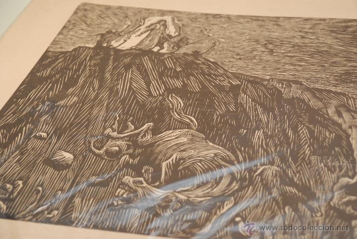 Arte: XILOGRAFÍA - REPRESENTA LA LEYENDA DE LA DONCELLA DE BUERA - MEDIDA: 50X39 - FIRMADA Y NUMERADA - - Foto 3 - 48308379