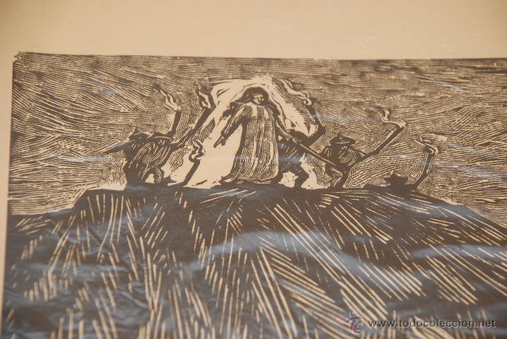 Arte: XILOGRAFÍA - REPRESENTA LA LEYENDA DE LA DONCELLA DE BUERA - MEDIDA: 50X39 - FIRMADA Y NUMERADA - - Foto 6 - 48308379