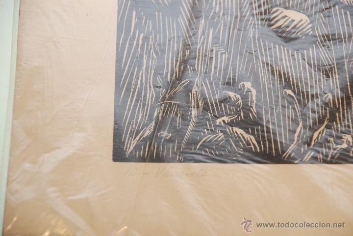 Arte: XILOGRAFÍA - REPRESENTA LA LEYENDA DE LA DONCELLA DE BUERA - MEDIDA: 50X39 - FIRMADA Y NUMERADA - - Foto 7 - 48308379
