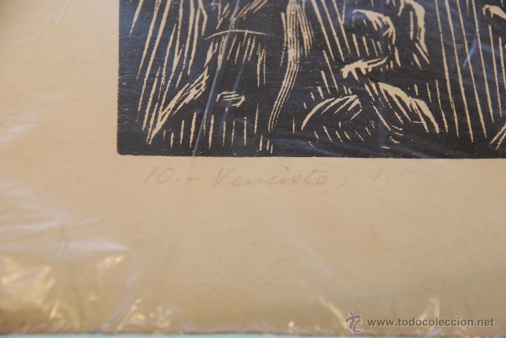 Arte: XILOGRAFÍA - REPRESENTA LA LEYENDA DE LA DONCELLA DE BUERA - MEDIDA: 50X39 - FIRMADA Y NUMERADA - - Foto 8 - 48308379