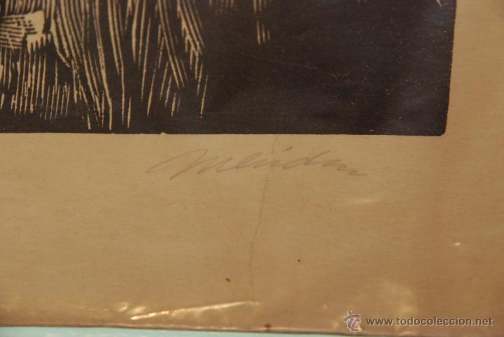 Arte: XILOGRAFÍA - REPRESENTA LA LEYENDA DE LA DONCELLA DE BUERA - MEDIDA: 50X39 - FIRMADA Y NUMERADA - - Foto 9 - 48308379