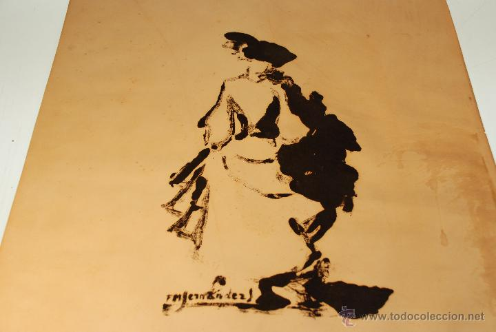 Arte: FM. FERNANDEZ - DAMA DE EPOCA - AGUAFUERTE - FIRMADA - OBRA ORIGINAL - MEDIDA: 55,5 X 45,7 CM - - Foto 5 - 48308496