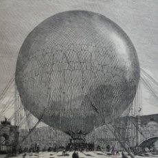 Arte: PARIS PRIMERA ASCENSION EN GLOBO CAUTIVO .AÑO 1878. Lote 48533732