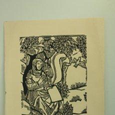 Arte: XILOGRAFÍA FIRMADA RAIMON P.A. (AÑOS 60). Lote 50287381