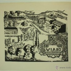Arte: XILOGRAFÍA DEL COLEGIO VIARO DE SAN CUGAT DEL VALLES AÑOS 60 (ANÓNIMO). Lote 50287499