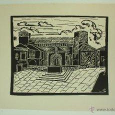 Arte: XILOGRAFÍA AÑOS 60 (AUTOR DESCONOCIDO) IMAGEN SAN CUGAT DEL VALLES. Lote 50304893
