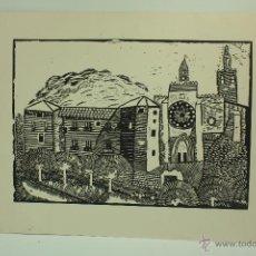 Arte: XILOGRAFÍA AÑOS 60 (AUTOR DESCONOCIDO) IMAGEN SAN CUGAT DEL VALLES. Lote 50304925