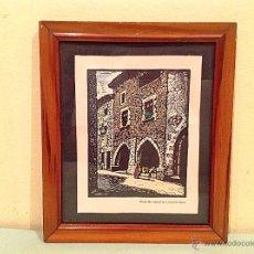 Arte: CUADRO XILOGRAFIA DE JOAN CASTELLS MARTÍ 1930-1940 CASA. Lote 50428759