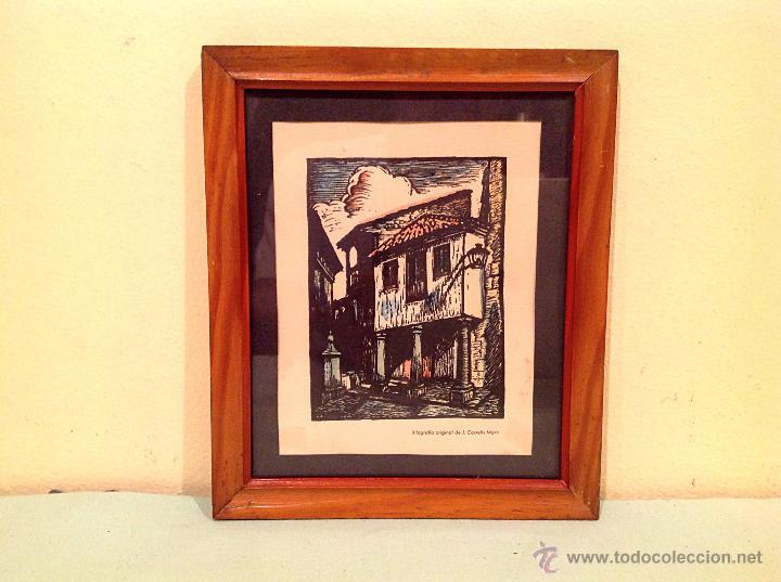 CUADRO XILOGRAFIA DE JOAN CASTELLS MARTÍ 1930-1940 (Arte - Xilografía)