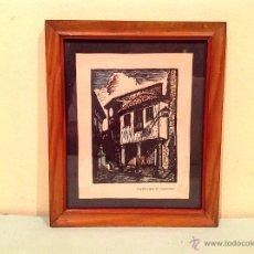 Arte: CUADRO XILOGRAFIA DE JOAN CASTELLS MARTÍ 1930-1940. Lote 50428914