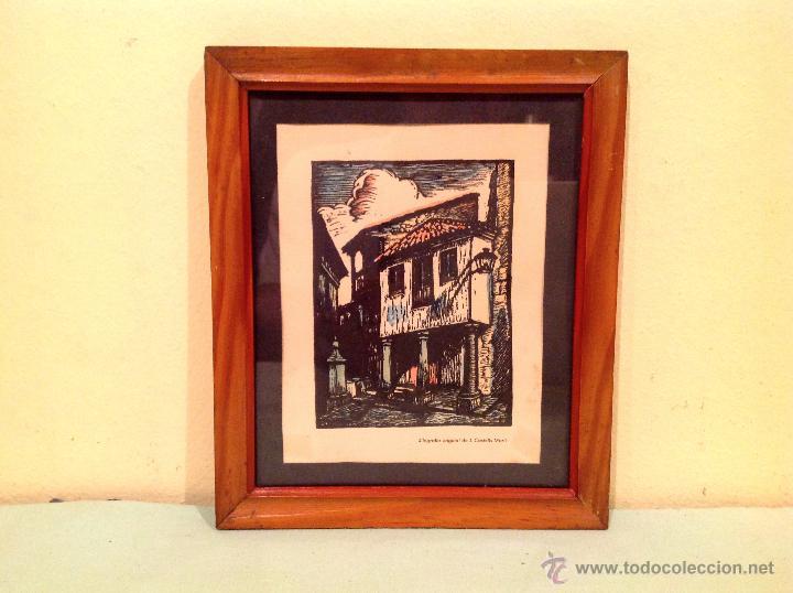 Arte: Cuadro Xilografia De Joan Castells Martí 1930-1940 - Foto 2 - 50428914