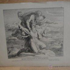Arte: LAMINA RELIGIOSA XILOGRAFIA - MOISES CONTEMPLANDO LA TIERRA PROMETIDA. Lote 50971202