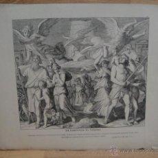 Arte: LAMINA RELIGIOSA XILOGRAFIA - LA CONFUSION DE LENGUAS. Lote 50971328
