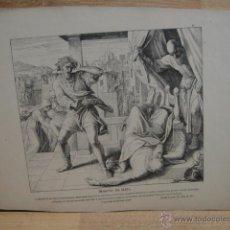 Arte: LAMINA RELIGIOSA XILOGRAFIA - MUERTE DE HELI. Lote 50971378