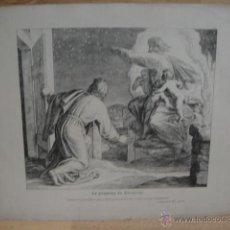 Arte: LAMINA RELIGIOSA XILOGRAFIA - LA PROMESA DE ABRAHAM. Lote 50971449