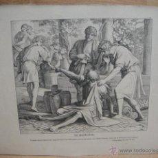 Arte: LAMINA RELIGIOSA XILOGRAFIA - LA MALDICION. Lote 50971672