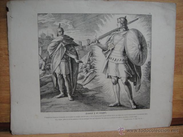 XILOGRAFIA RELIGIOSA - JOSUE Y EL ANGEL (Arte - Xilografía)