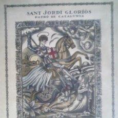 Arte: FRANCESC CANYELLAS BALAGUERO. (BARCELONA 1889-1938) XILOGRAFÍA DE SANT JORDI, FIRMADA A LÁPIZ. Lote 51405013